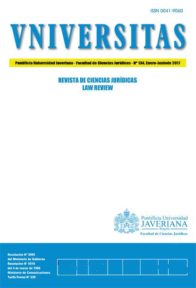 Vniversitas / Revista de Ciencias Jurídicas / Law Review