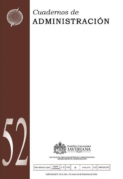 Vol. 29, Núm. 52 (2016)