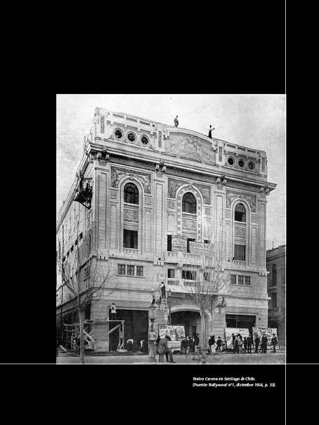 Teatro Carrera en Santiago de Chile. (Fuente: Hollywood n°1, diciembre 1926, p. 33).
