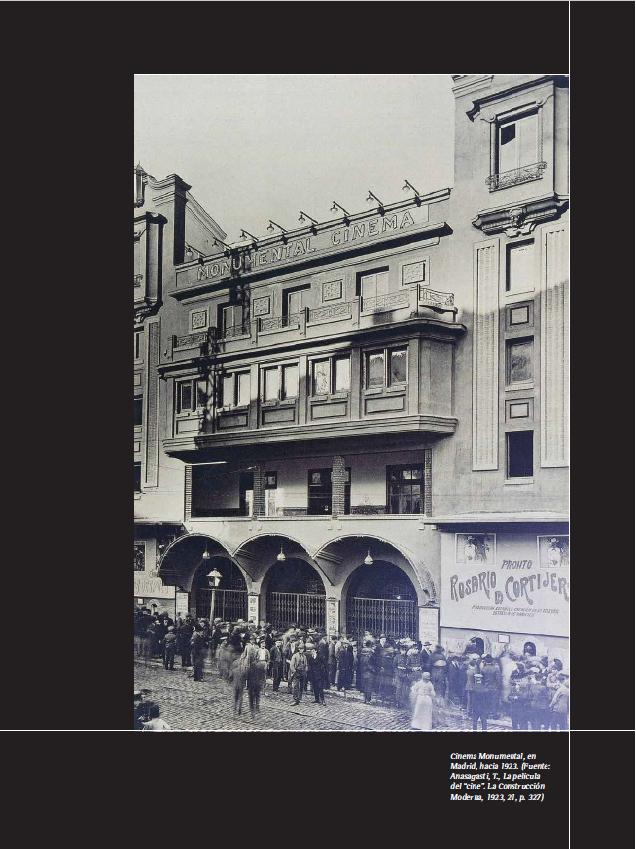 """Cinema Monumental, en Madrid, hacia 1923. (Fuente: Anasagasti, T., La película del """"cine"""". La Construcción Moderna, 1923, 21, p. 327)"""