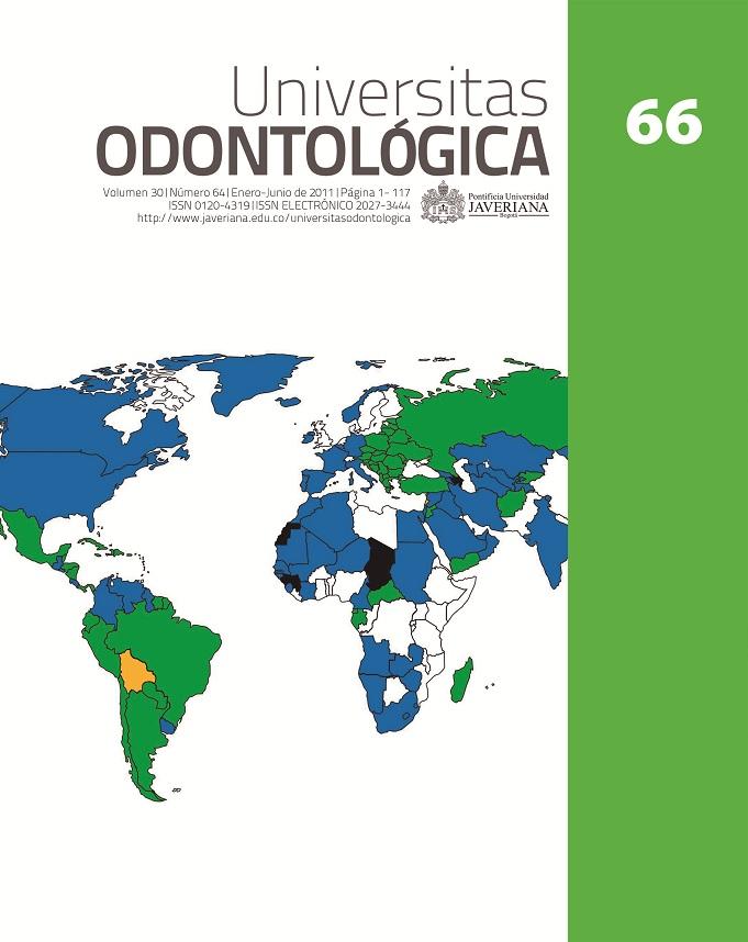 Portada Universitas Odontológica 66